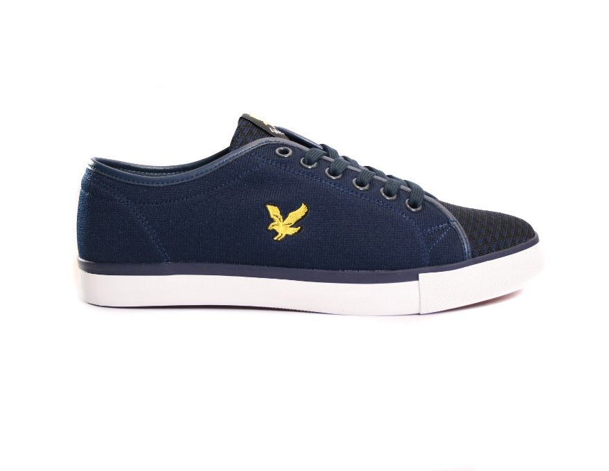 Lyle /& Scott Teviot Leather Trainer New Navy RRP £74.99